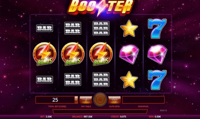 Booster Slot game play