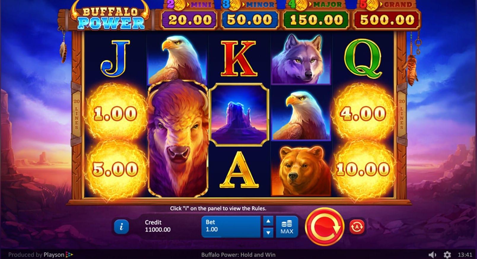 Buffalo Power Hold and Win Free Slots