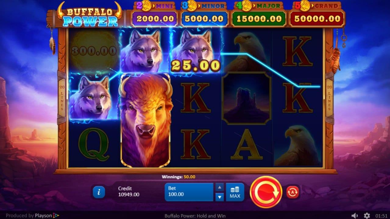 Buffalo Power Hold and Win Slot UK