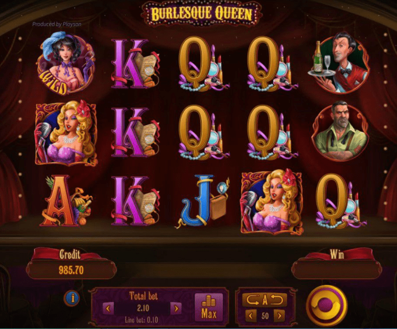 Burlesque Queen game play