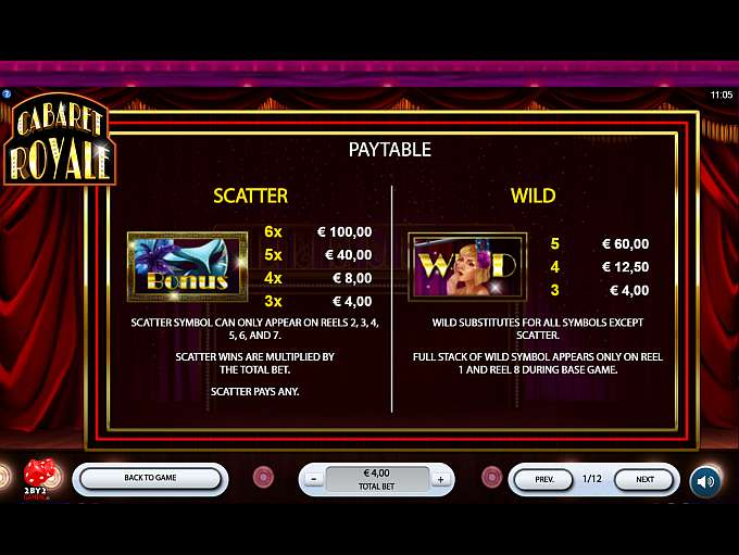 Cabaret Royale Slots Game