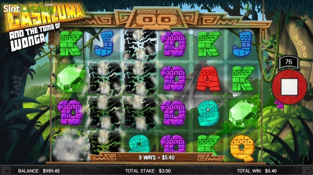 Cashzuma And The Tomb Of Wonga Casino Gameplay