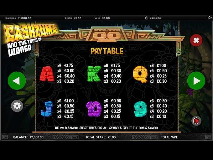 Cashzuma And The Tomb Of Wonga Casino Gameplay