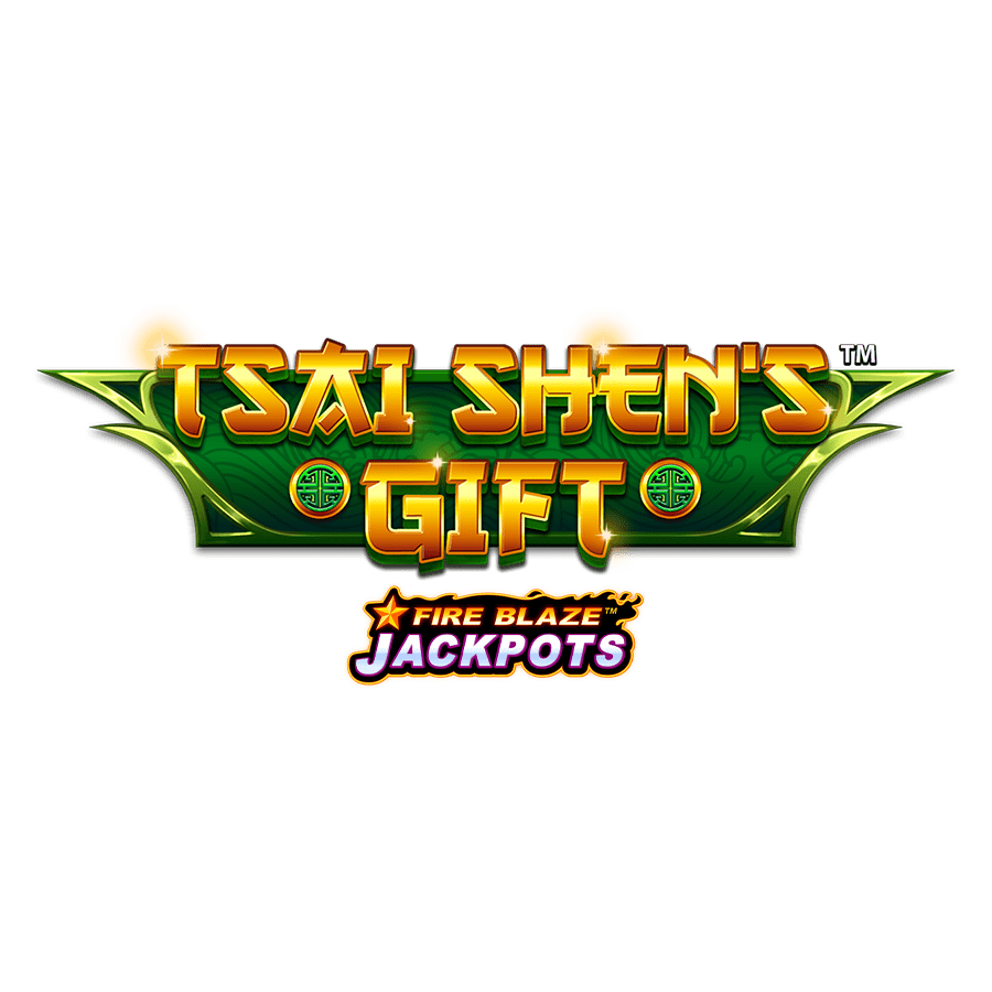 Fire Blaze Tsai Shen's Gift Slot Logo Wizard Slots