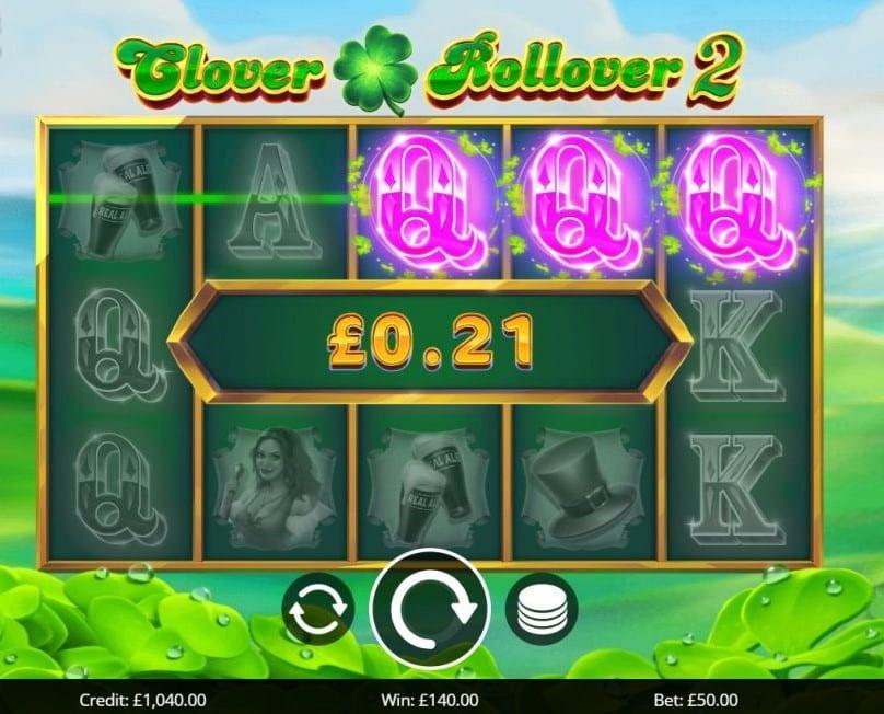 Clover Rollover 2 Slots Reels