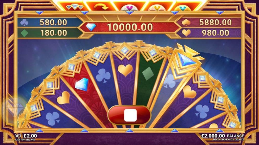 Deco Diamonds Deluxe Slots Bonus Wheel
