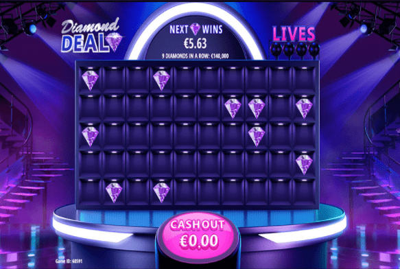 Diamond Deal game screen