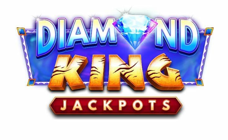 Diamond King Jackpots Slot Logo Wizard Slots