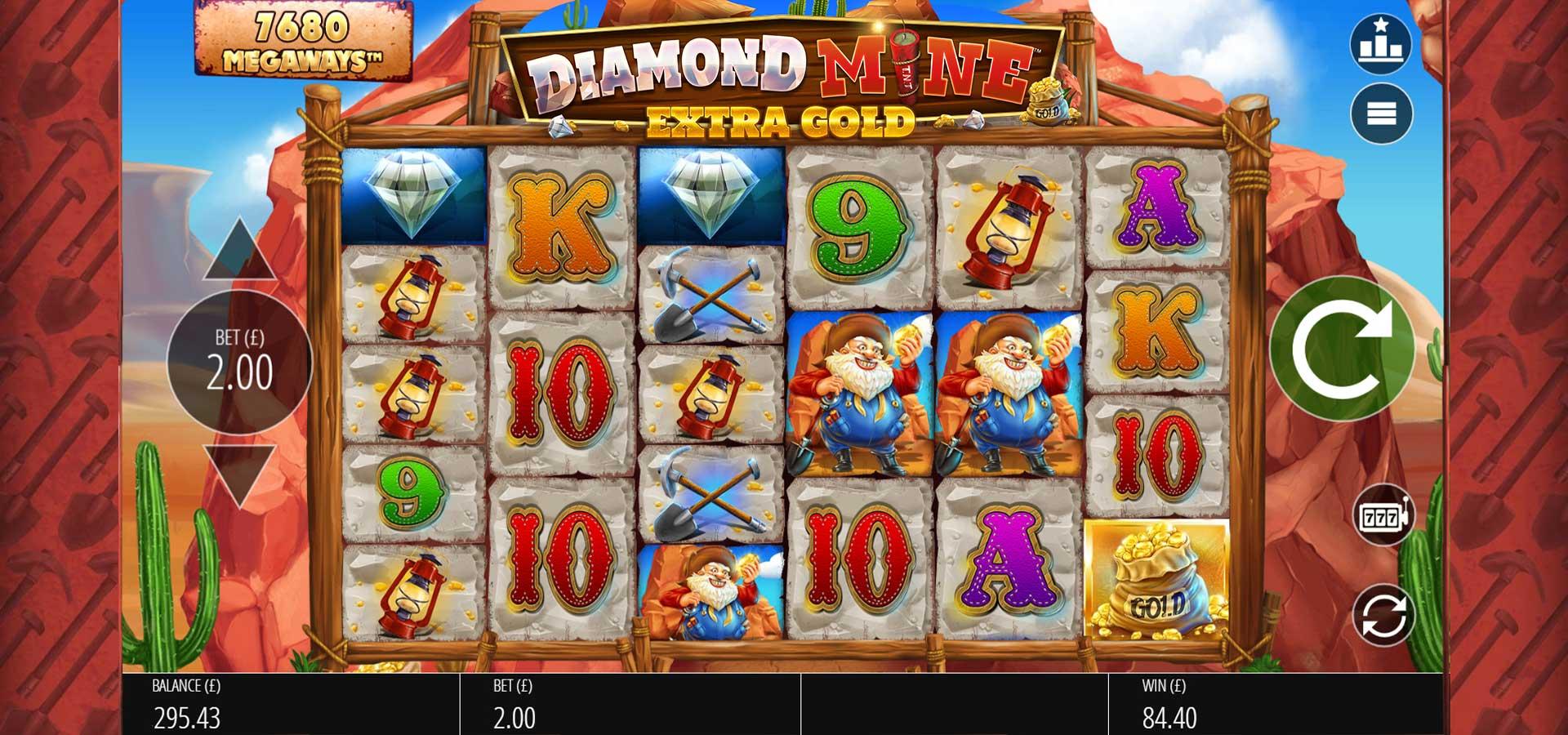 Diamond Mine: Extra Gold Slots UK