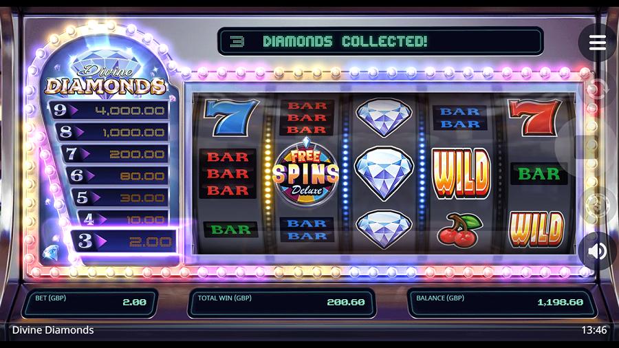 Divine Diamonds Slot Reels