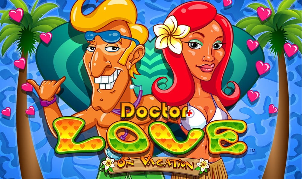 Dr Love on Vacation online slots game logo