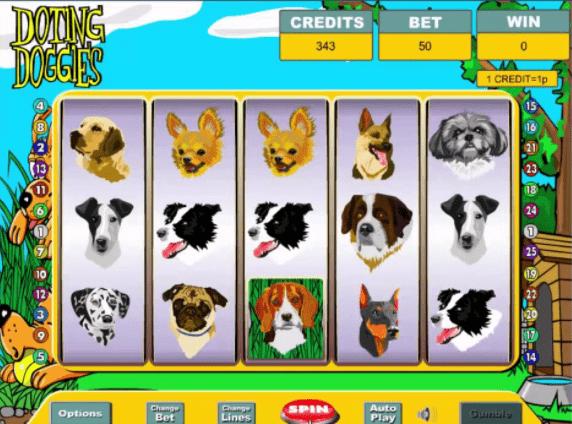 Doting Dogies Slot Game