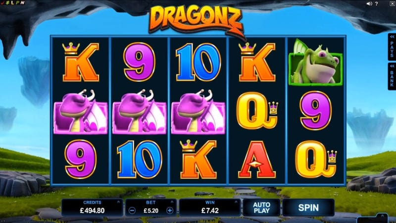 Dragonz online slots game gameplay