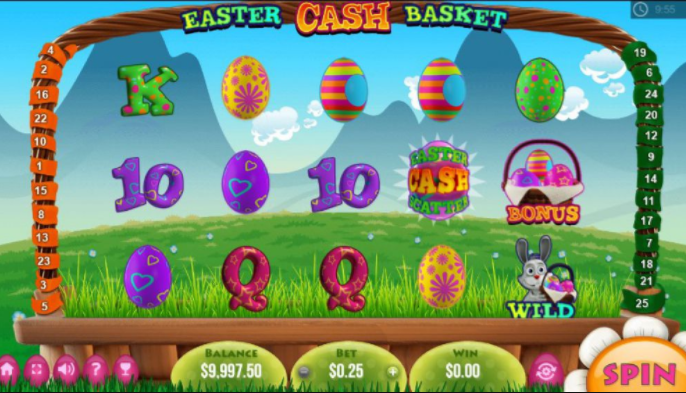 Easter Cash Baskets slots gameplay