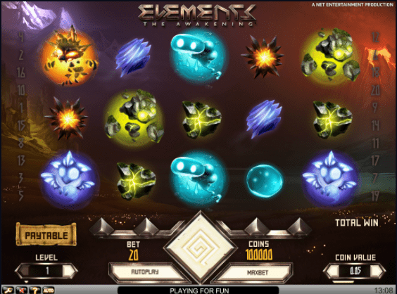 elements slots gameplay