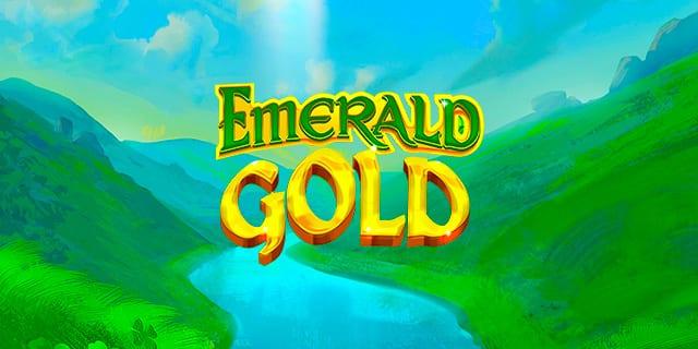Emerald Gold Slot Logo Wizard Slots