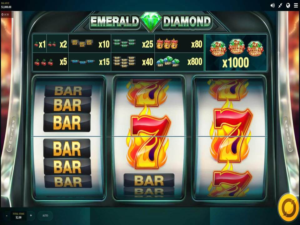 Emerald Diamond Slots Game