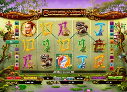 Emperor's Garden slots gameplay