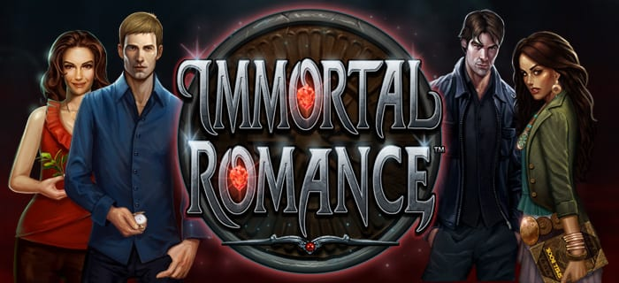 Immortal Romance slot game logo