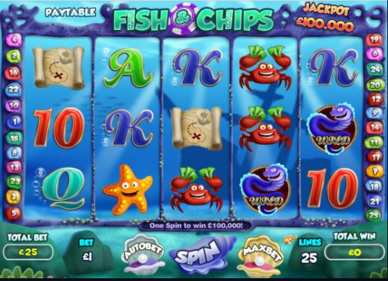 fish and chips slots gameplay