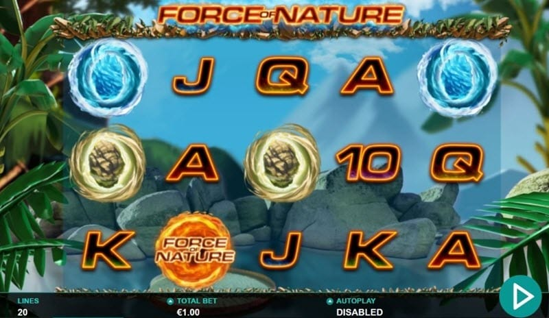 Force of Nature Slots Reels