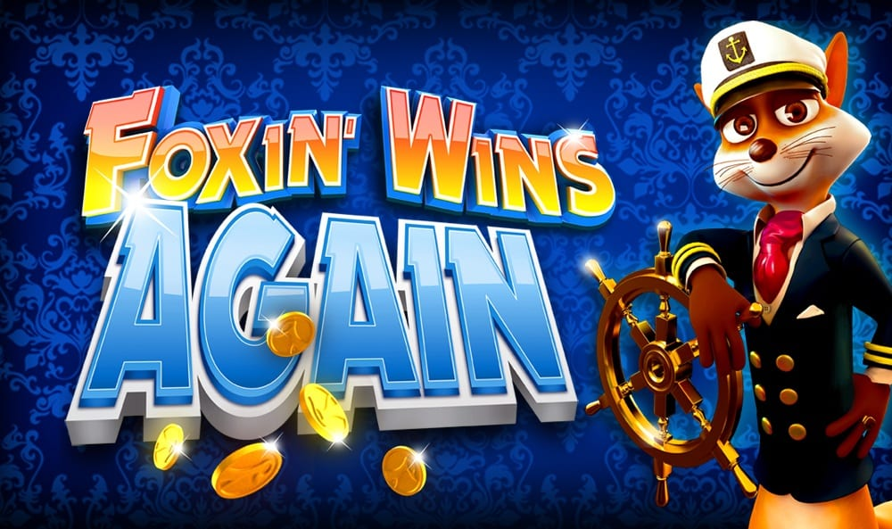 Foxin Wins Again online slots game logo