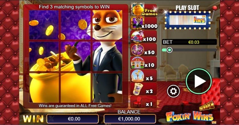 Scratch Foxin Wins Casino Game