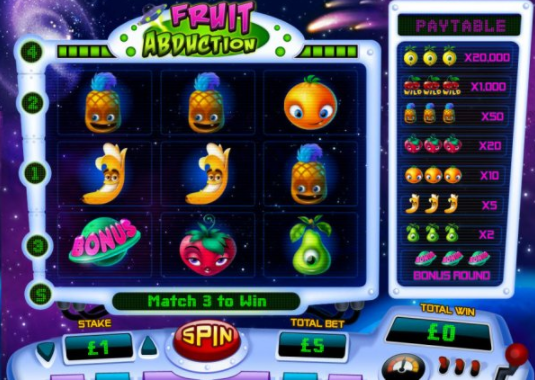 Fruit Abduction main screen