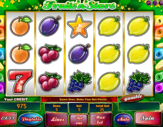 Fruits n Stars game play