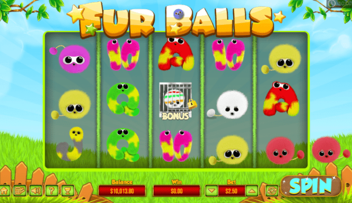 Fur Balls Slots gameplay