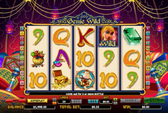 Genie Wild Slots gameplay