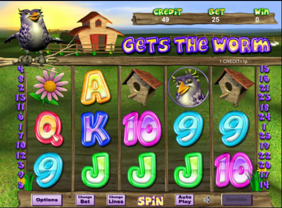 gets the worm slots gameplay