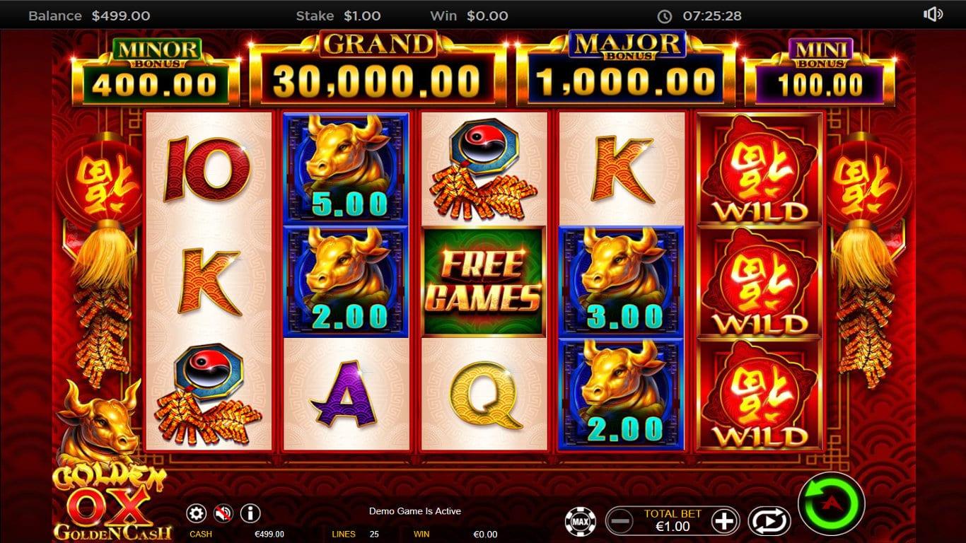 Golden Ox Slots Games