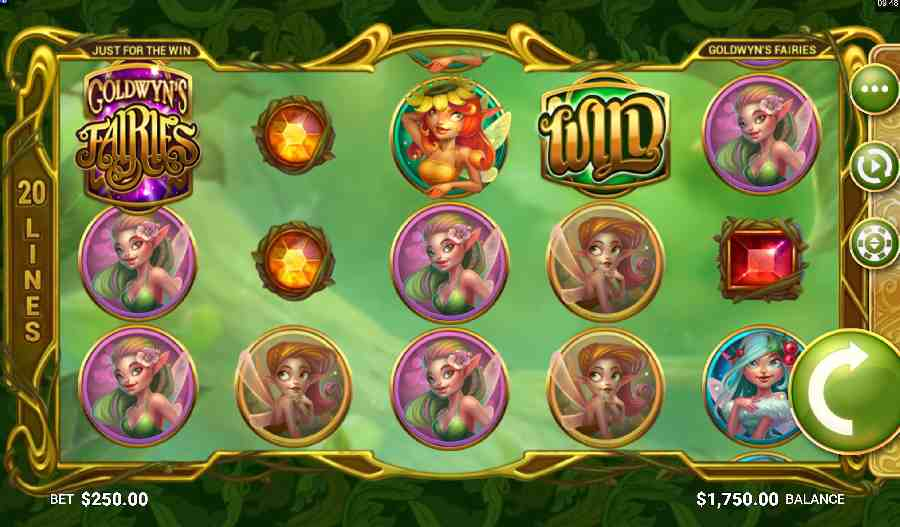 Goldwyn's Fairies online slots game gameplay