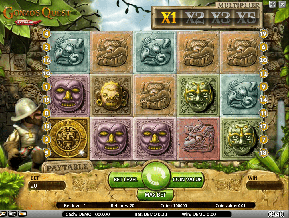 Gonzo's Quest slot gameplay