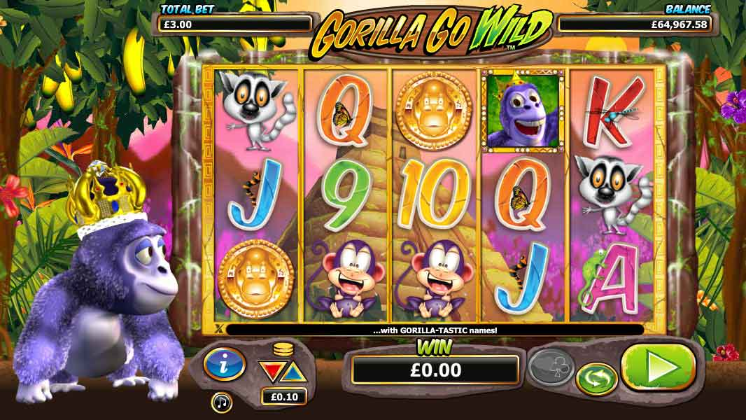 Gorilla Go Wild online slots game gameplay