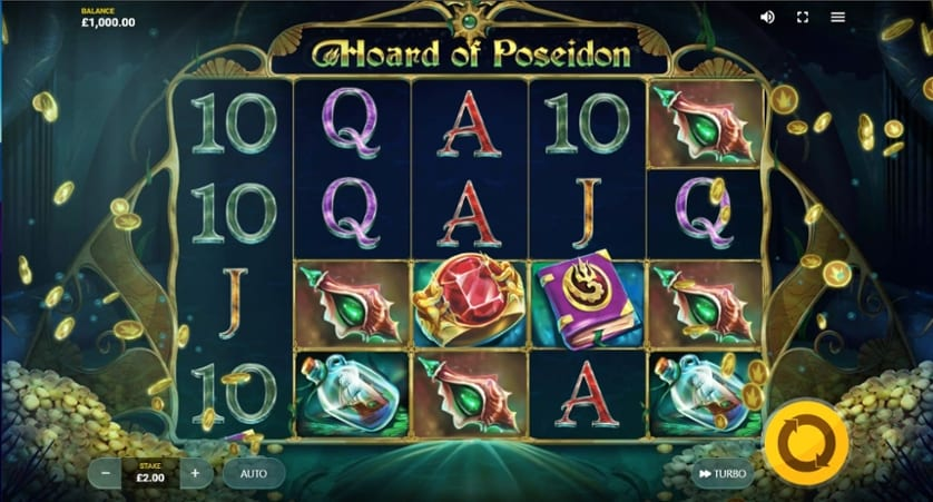Hoard of Poseidon Slot Gameplay