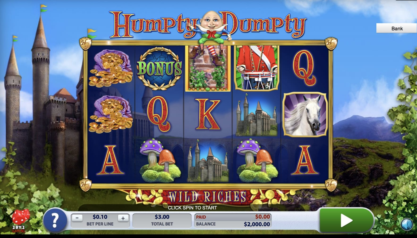 Humpty Dumpty online slots game gameplay