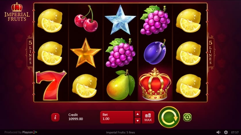 Imperial Fruits: 5 Lines slot Online