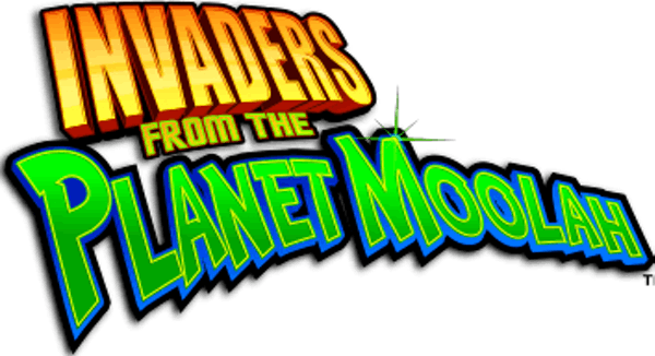 Invaders from the Planet Moolah Slot Logo Wizard Slots