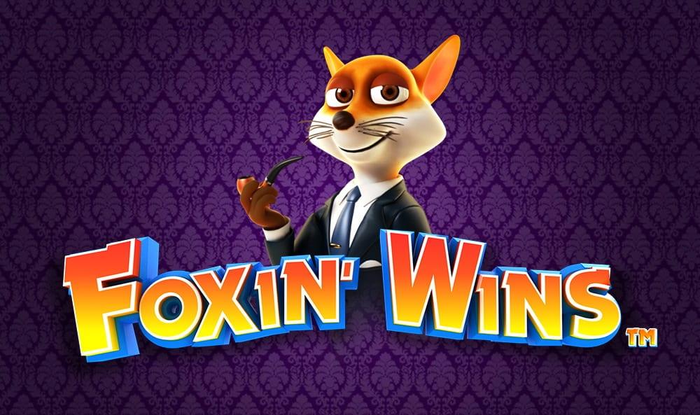 Foxin Wins online slots game logo