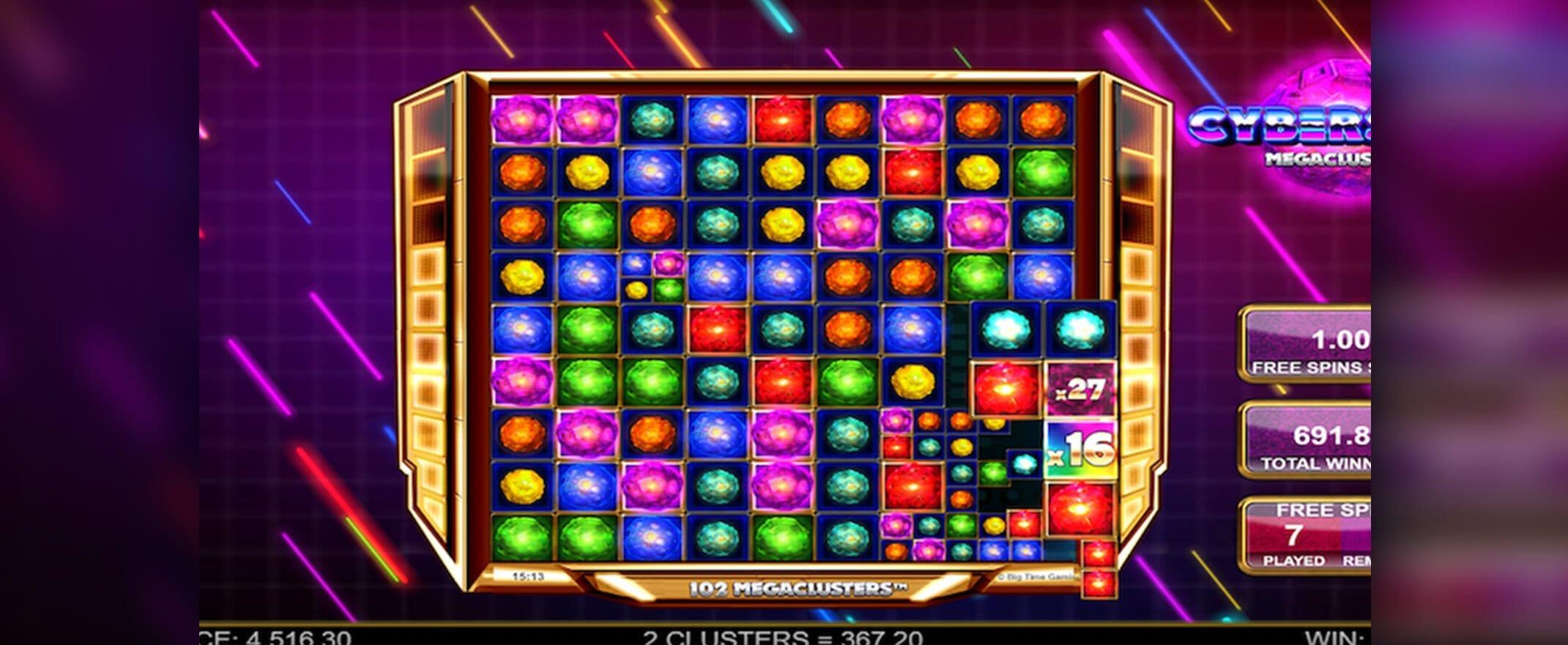 Megaclusters & Megaways slot machines