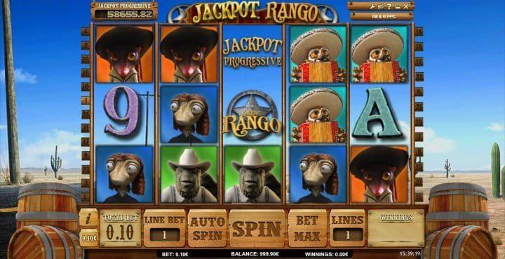 Jackpot Rango online slots game gameplay