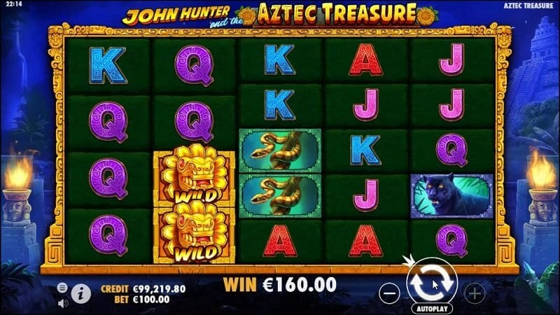John Hunter Aztec Treasure Slots Game Play