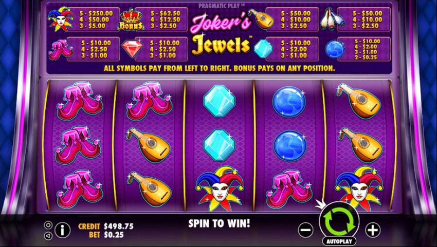 Jokers Jewels gameplay