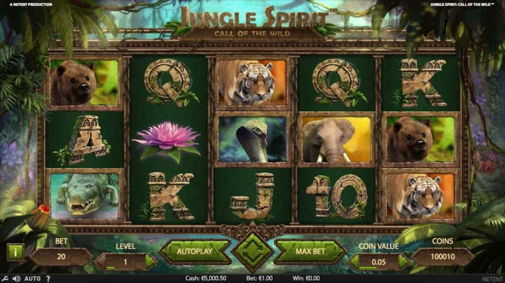 Jungle Spirit : Call of the Wild slots gameplay