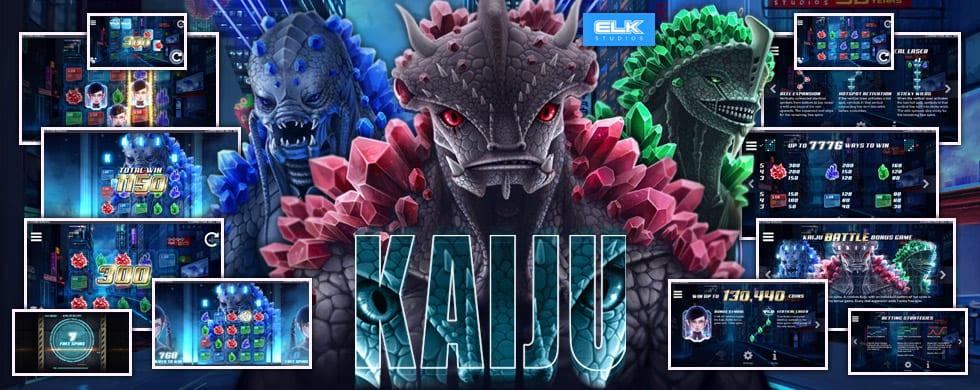 kaiju slots game logo
