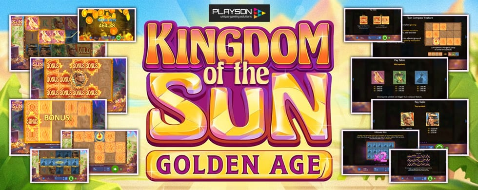 kingdom of the sun: golden age slots game logo