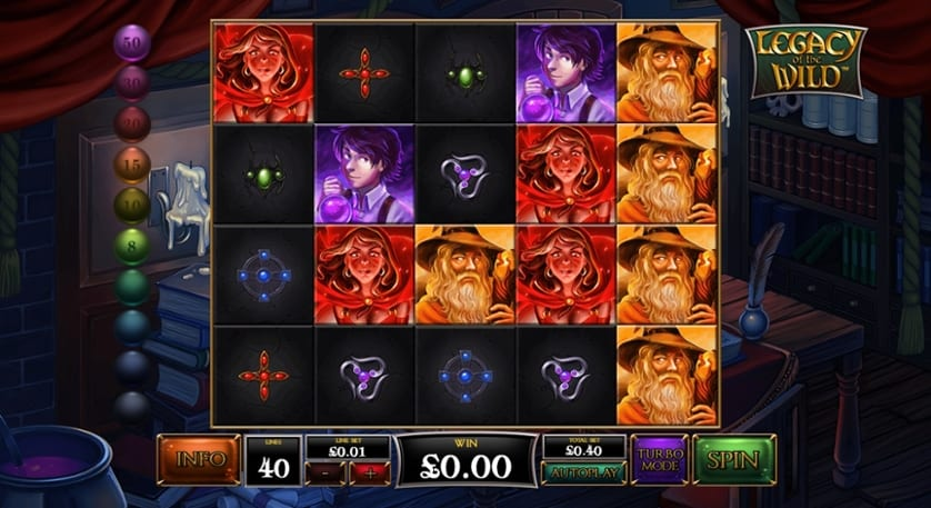 Legacy of the Wild Slots Reels