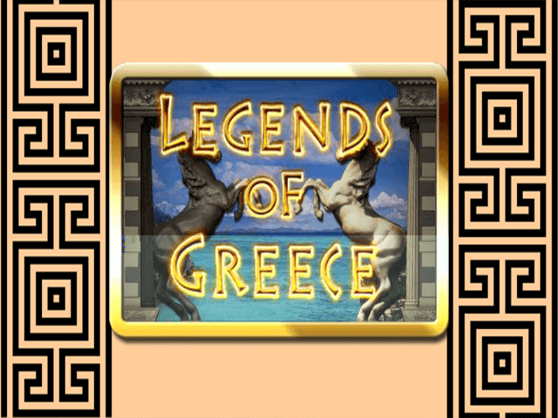 legends of greece slots game logo